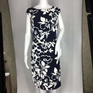 American Living Womens Cap Sleeve Floral Dress